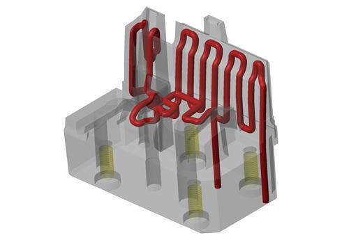 Inserto de aço maraging impresso em 3D
