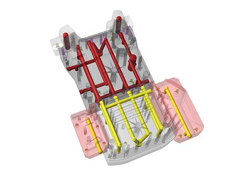 Projeto original do molde para a carcaça amarela traseira K2